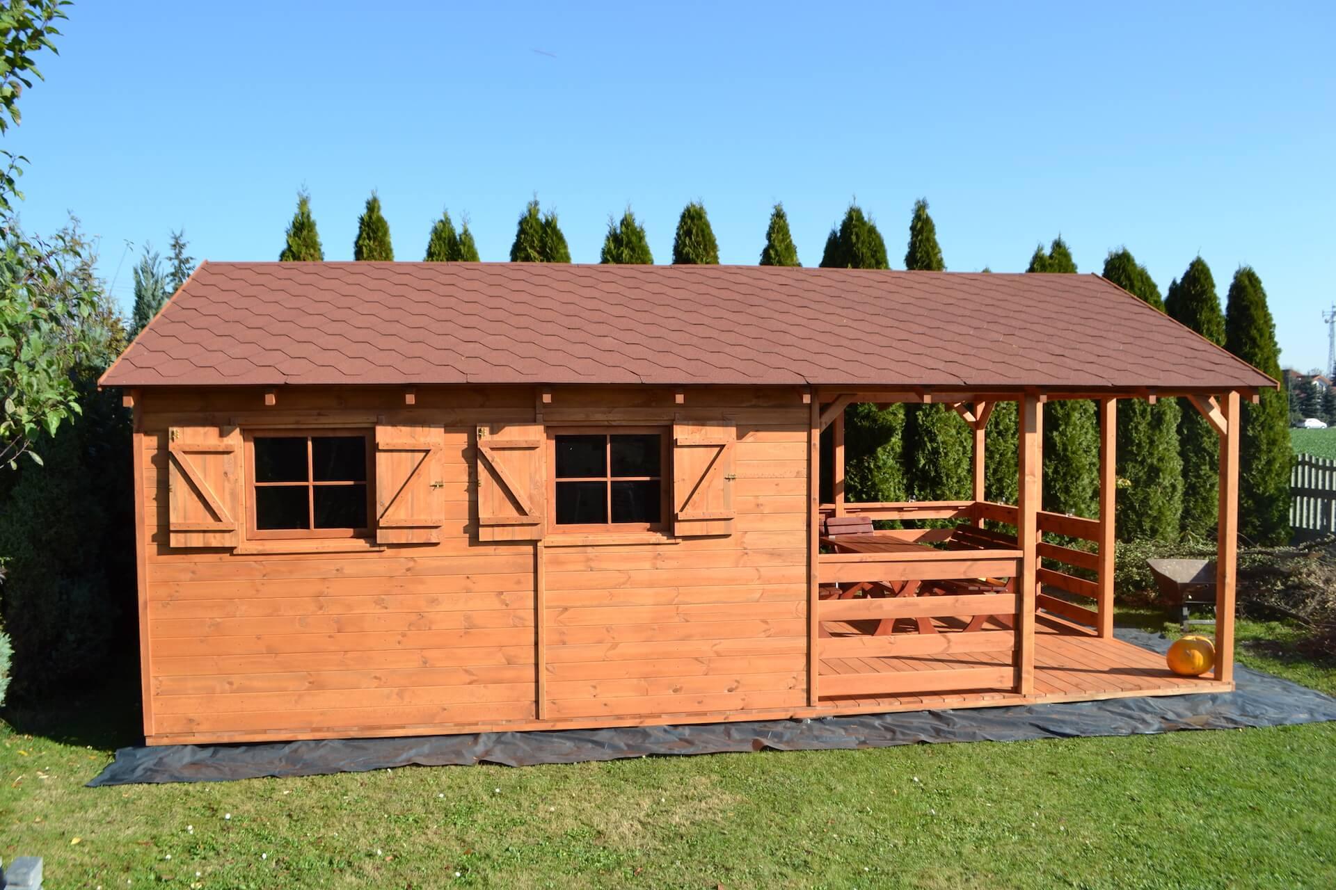 domek drewniany kempar