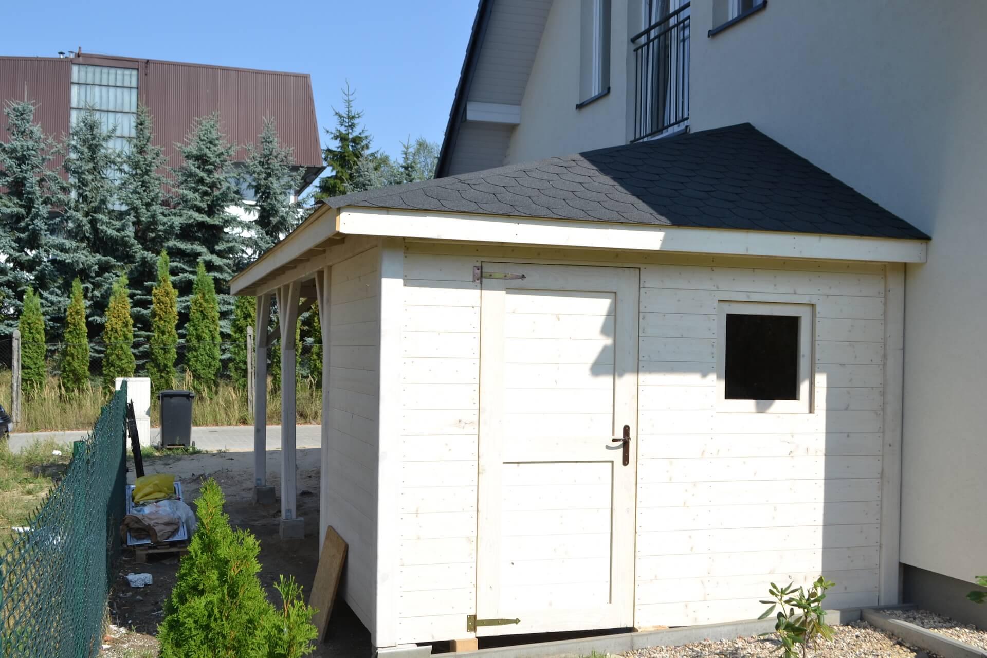 garaż z narzędziownią alpy kempar